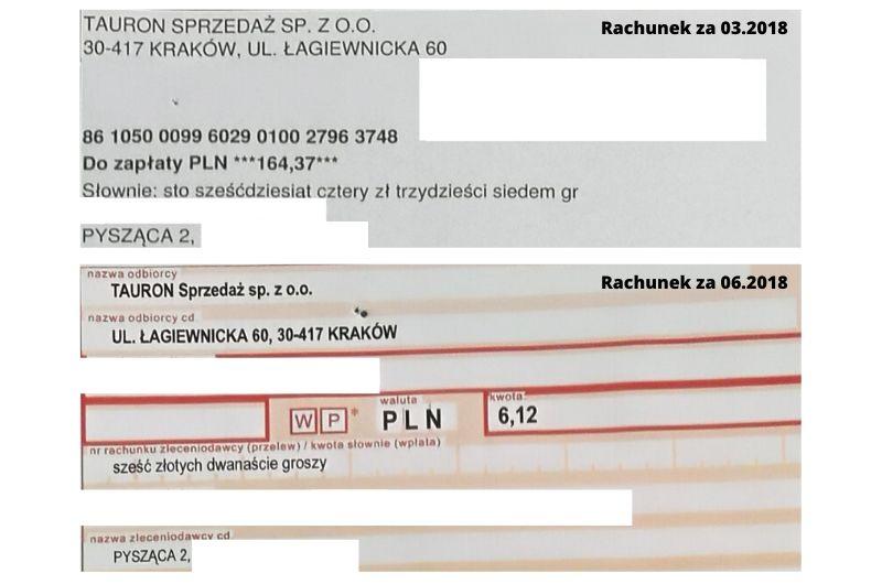 rachunki za prąd porównanie przed i po montażem fotowoltaiki