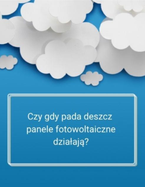 panele fotowoltaiczne a deszcz